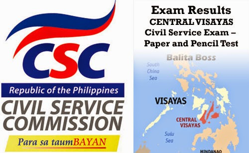 Region 7 - Civil Service Exam Results