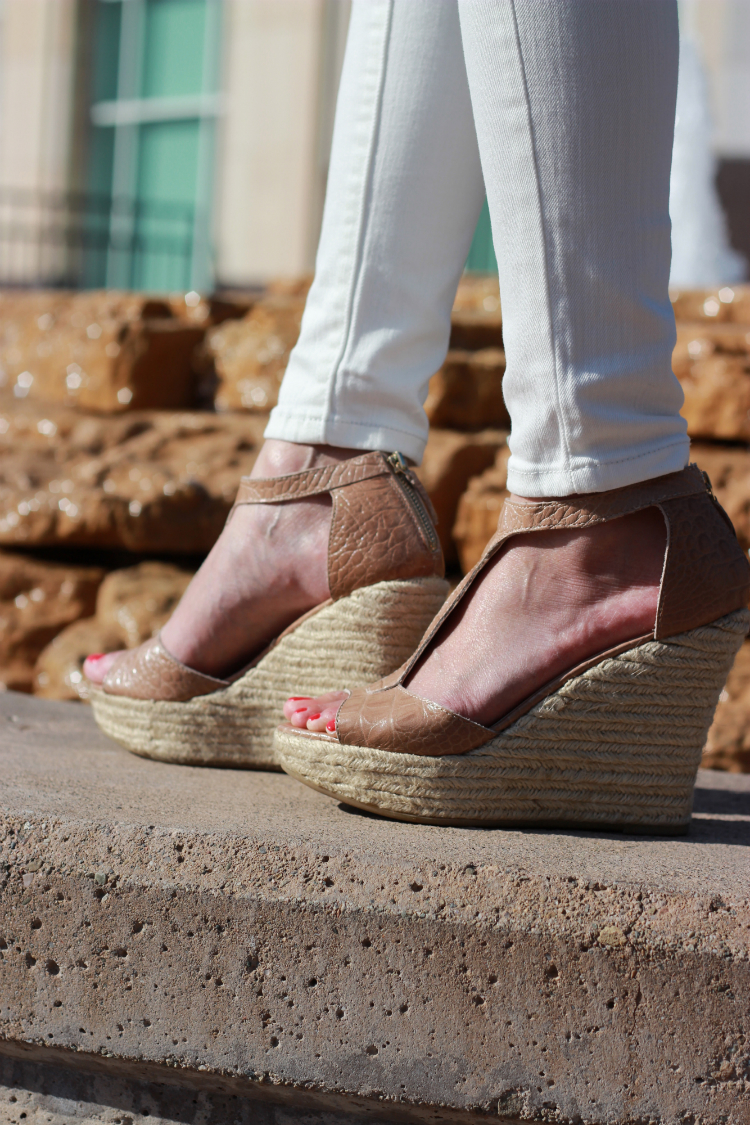 nude wedges espadrilles tstrap