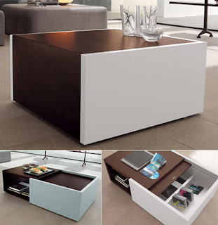 coffee table with creative storage