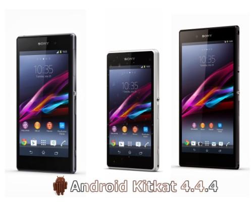 Xperia Z1, Z1 Compact e Z Ultra iniziano a ricevere il nuovo firmware con Android Kitkat 4.4.4