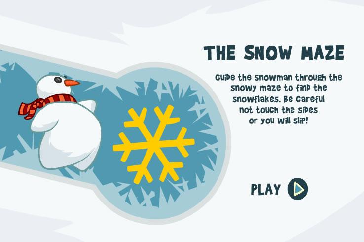 Kids Game : Snow Maze