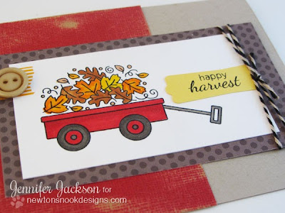 Happy Harvest Wagon Card