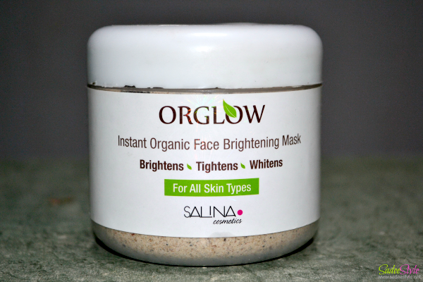 OrGlow Instant Organic Face Brightening Mask by Safina Cosmetics