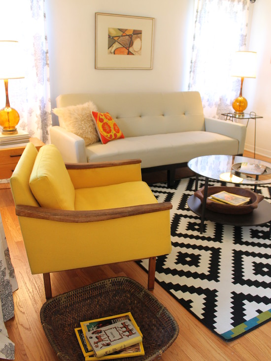 ikea rug bungalow home staging redesign