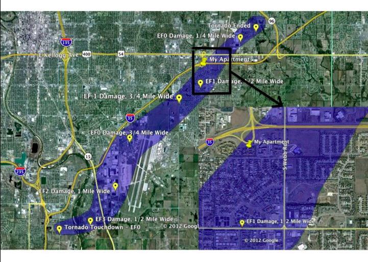 mike smith enterprises blog path map of wichita tornado