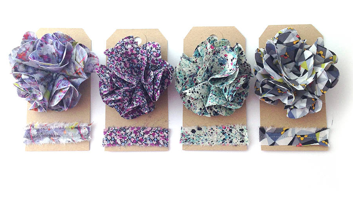 Gorgeous Liberty Print corsages from Maneggi #liberty #fabric #corsage