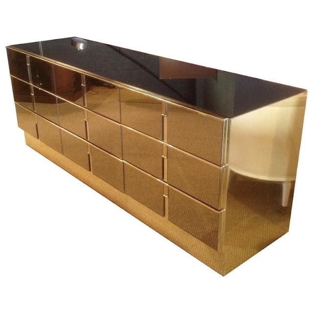 brass and bronze dresser