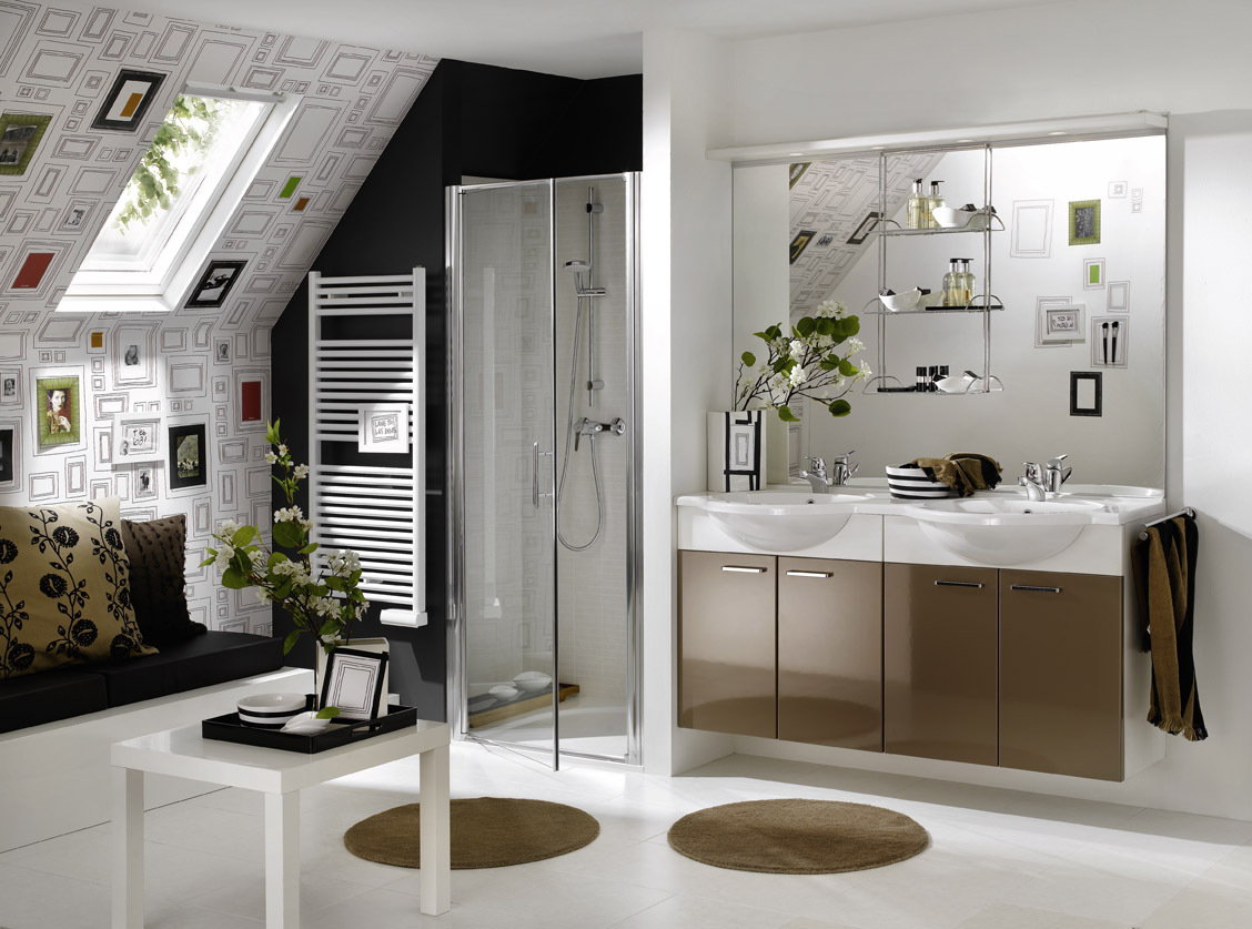Best bathroom designs in the world - White Modern Attic Bathroom