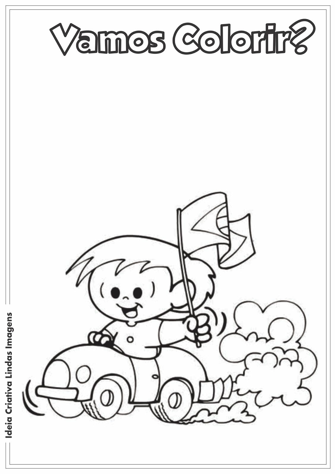 Desenho pra colorir - Dia da Independência do Brasil