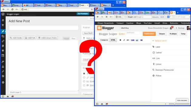 enakan blogspot atau wordpress