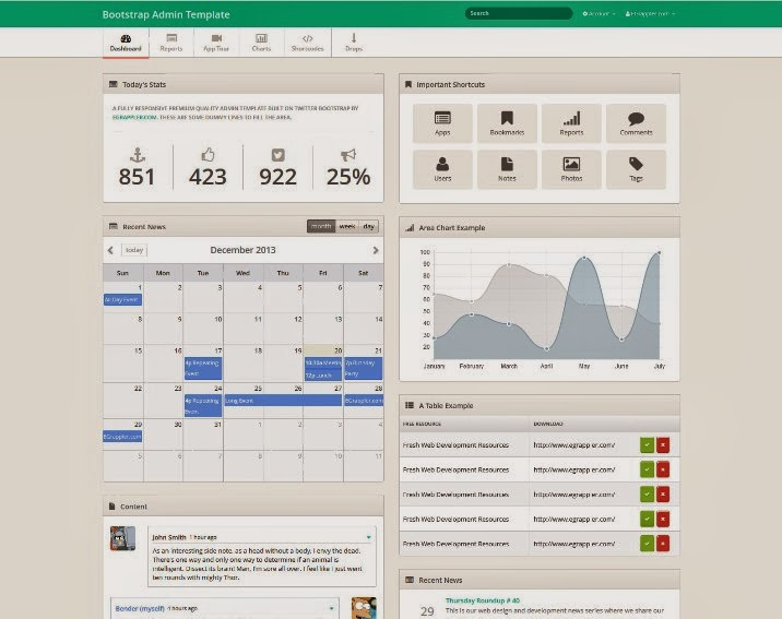 TemplateVamp - Free Bootstrap Admin Template