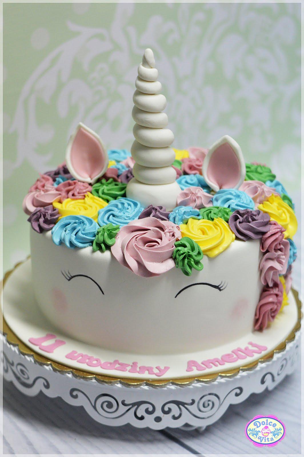 dolce vita      u017ceby  u017cycie by u0142o s u0142odkie  tort jednoro u017cec