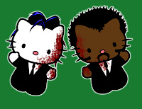 Hello Kitty in Pulp Fiction costume