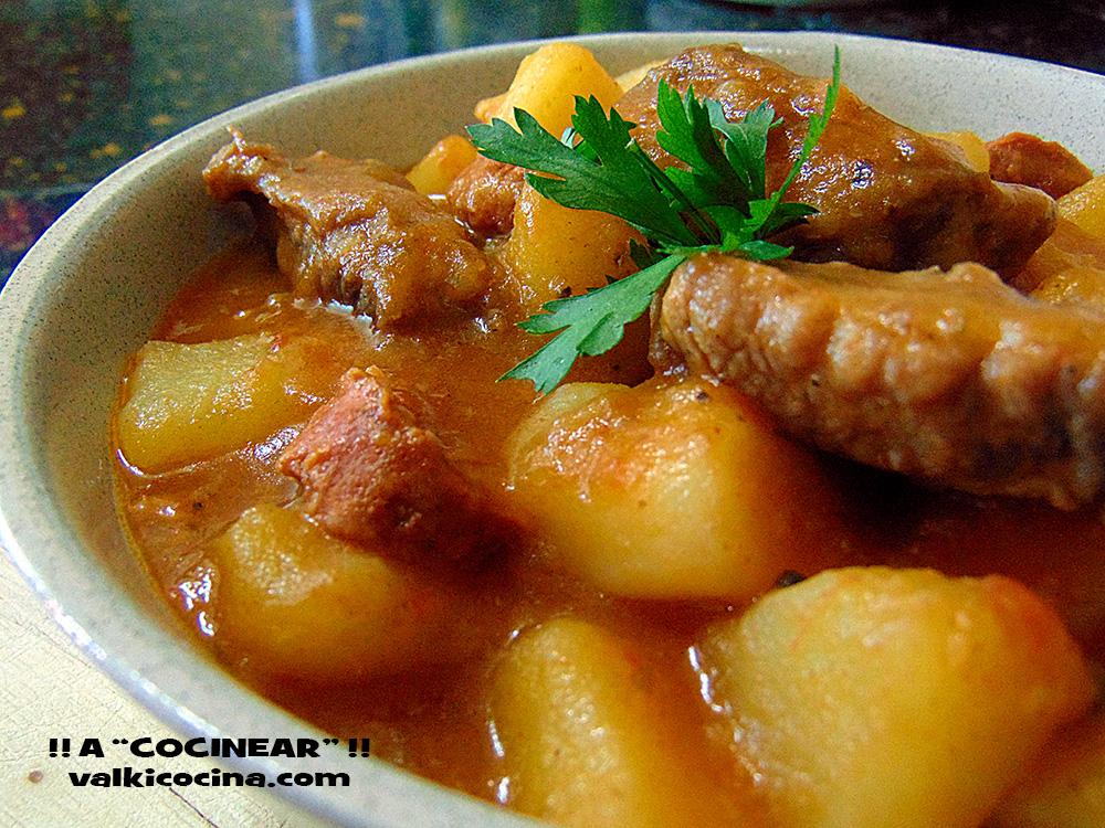 Guiso de patatas con costillas de cerdo y chorizo olla r pida a cocinear recetas - Patatas en olla rapida ...