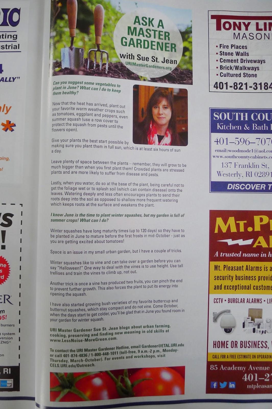 RI Local Magazine, URI Master Gardener