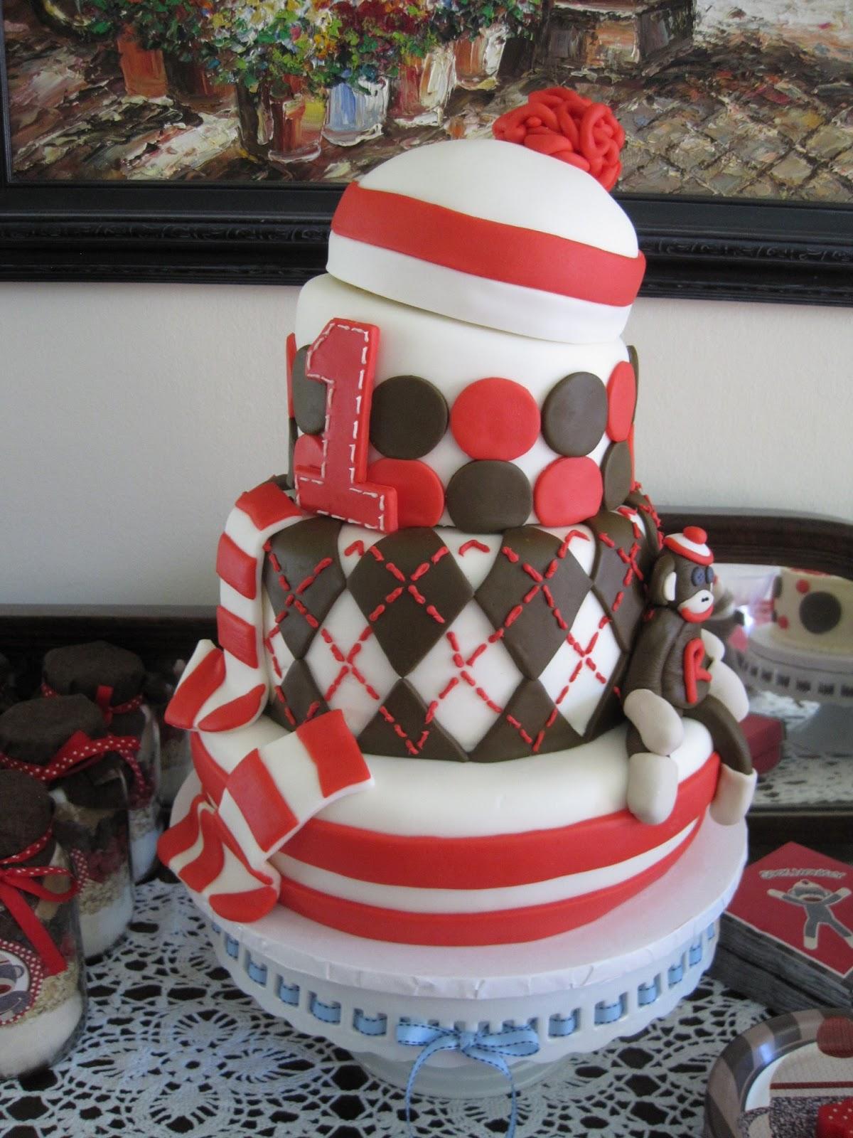 Your Happy Baker Sock Monkey 1st Birthday