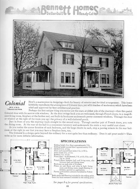 Instant house bennett homes better built ready cut for Ready built homes floor plans