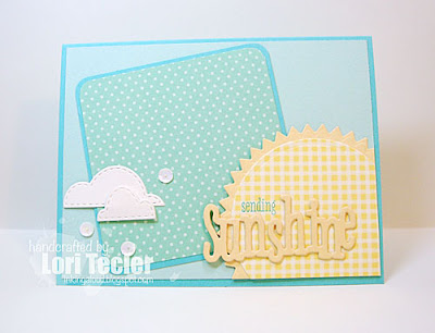 Sending Sunshine card-designed by Lori Tecler/Inking Aloud-stamps and dies from WPlus9