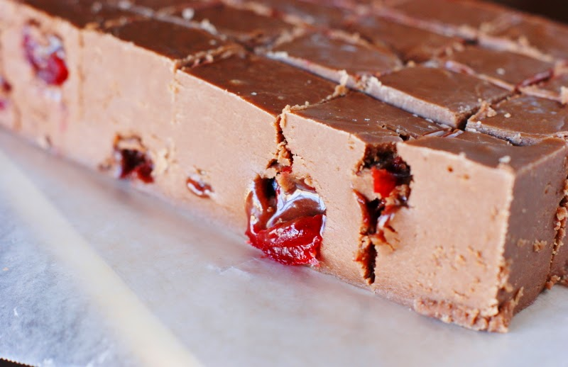 Chocolate Covered Cherry Amaretto Fudge