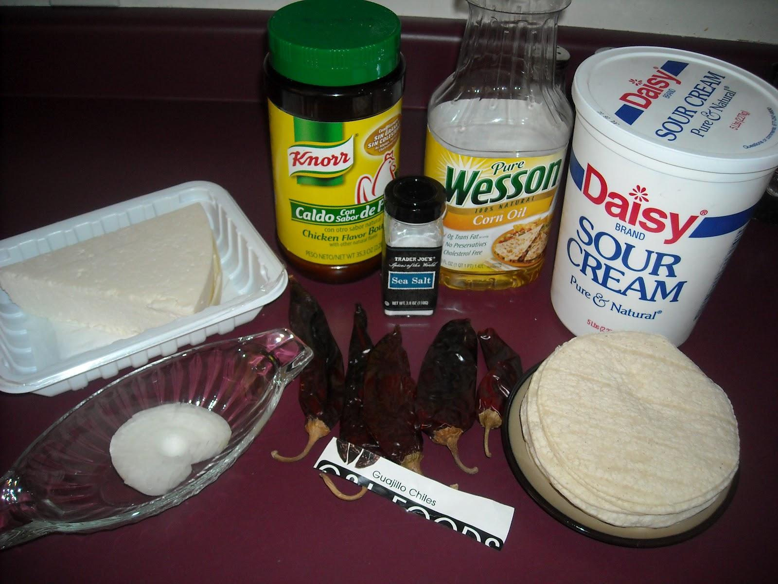 Serves 4) To make Chilaquiles Rojos en Salsa de Guajillo you will ...