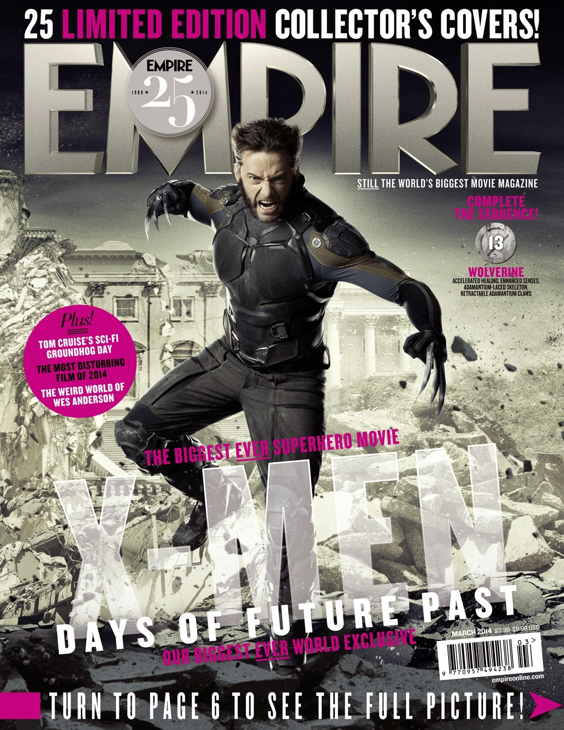 X-Men: on the cover of magazine Empire