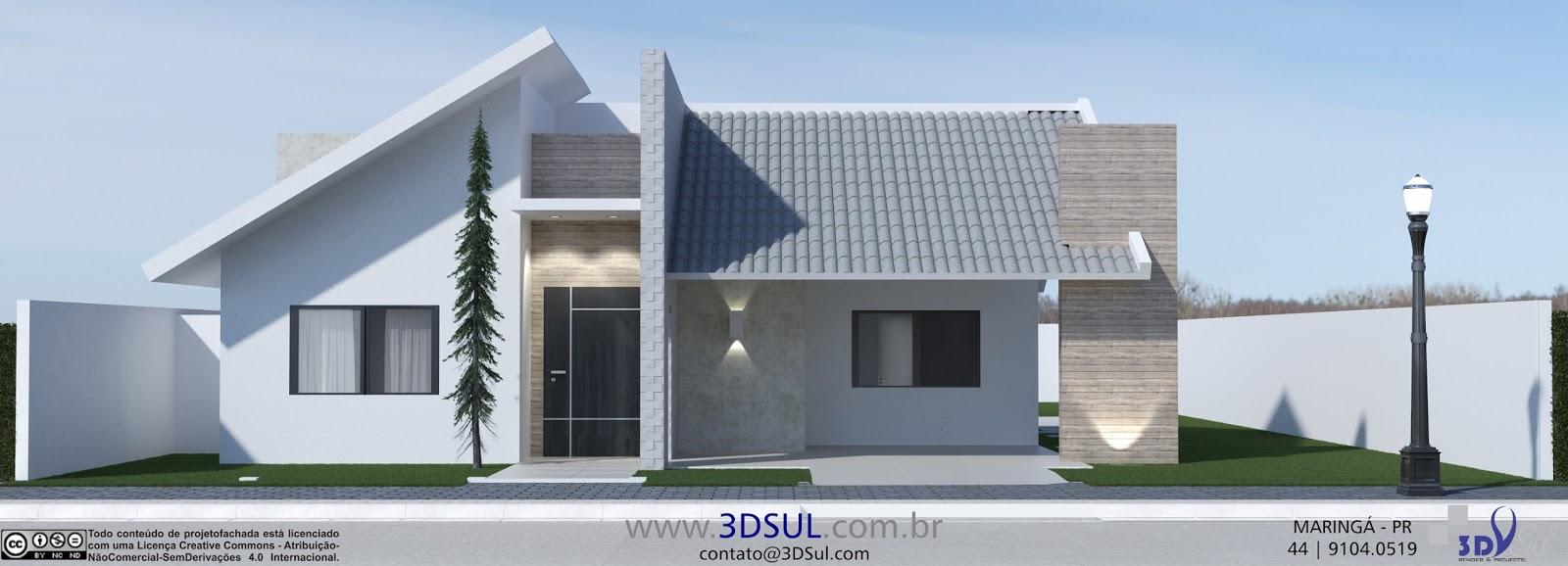 3dsul Maquete Eletr Nica 3d Projeto 3d Casa Telhado A