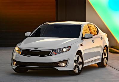 White Kia Optima Hybrid Car HD Wallpaper