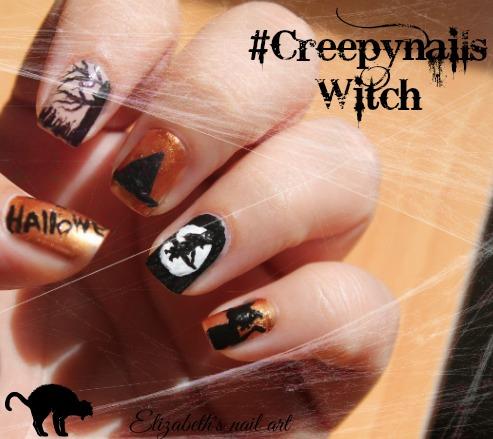 nail art halloween brujas