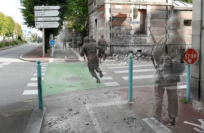 Ketika Foto Jaman Perang Dunia II Disatukan Dengan Jaman Sekarang