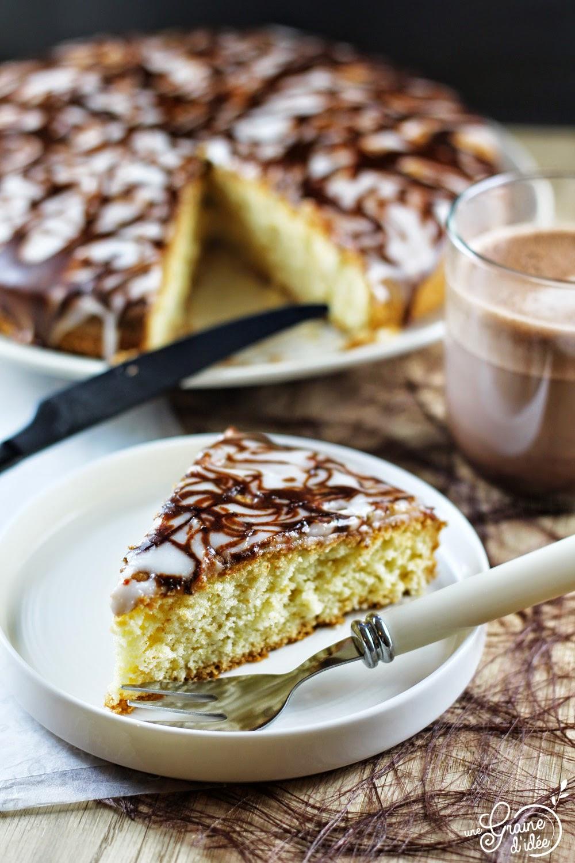 Gâteau au Lait d'Amande et son Glaçage Bicolore - Une Graine d'Idée