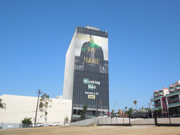 Giant Breaking Bad final episodes Walt White billboard