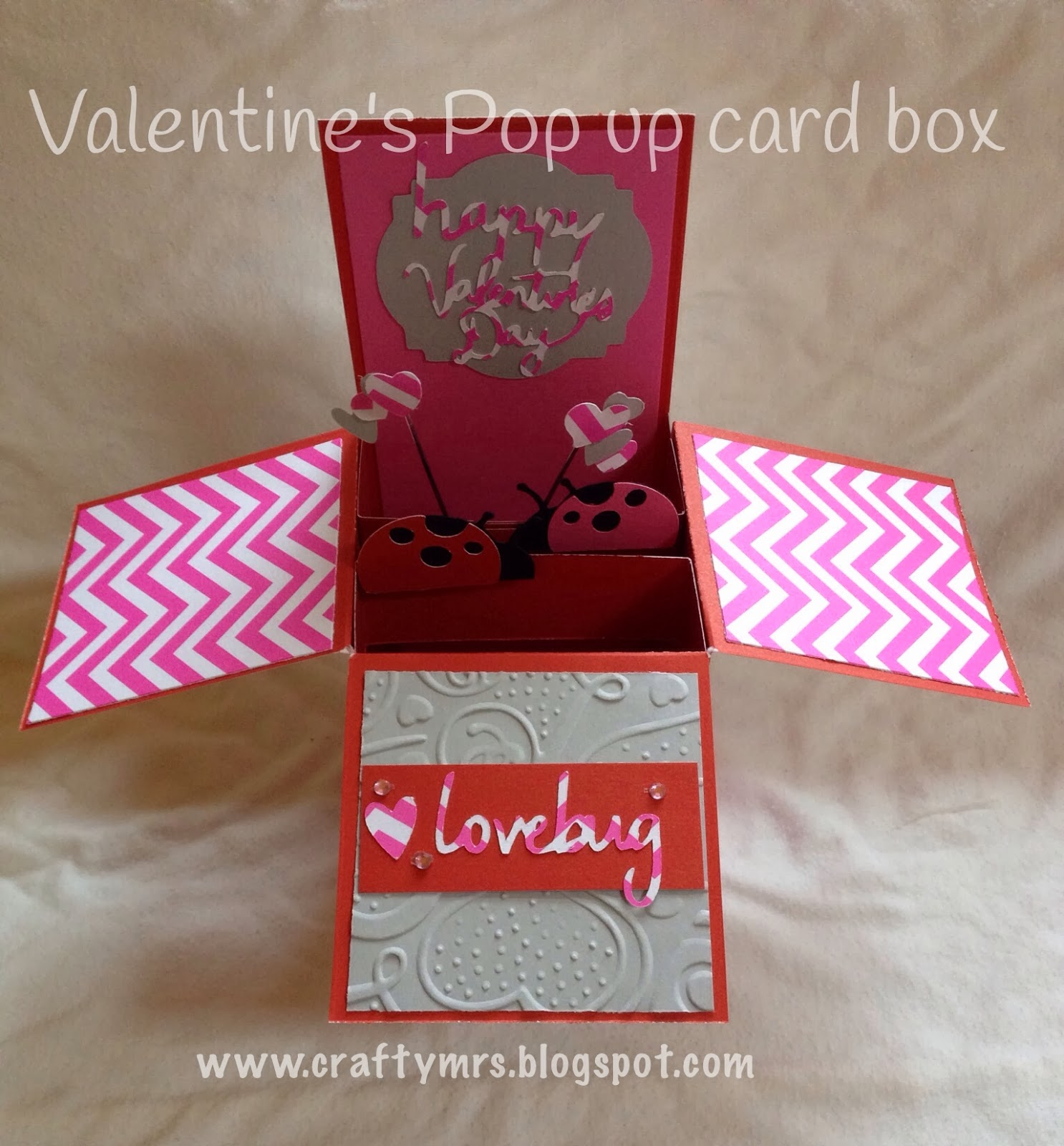 CraftyMrs Valentines Pop up Card Box – Valentines Pop Up Card