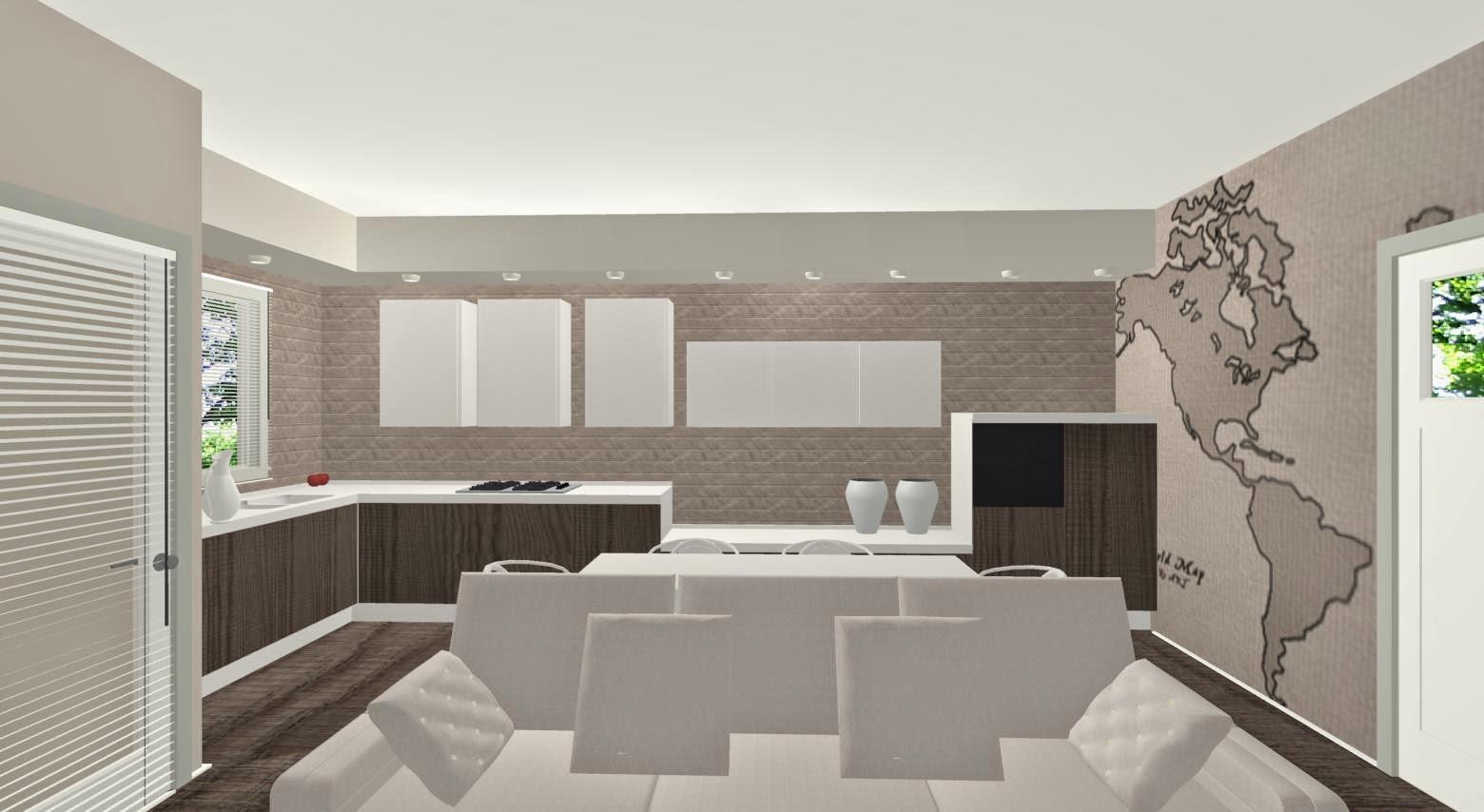 Arredare un ambiente unico for Arredare una parete del soggiorno