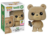 Funko Pop! Ted with remote flocked