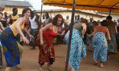 white women igbo dance