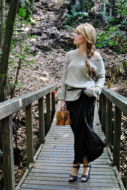 nery hdez, bohemian look, winter look, maxi  skirt, trenza, braid