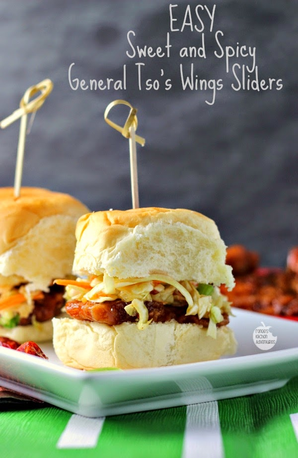 Easy Sweet and Spicy General Tso's Wings Sliders | Renee's Kitchen Adventures Game day grub doesn't get any easier!