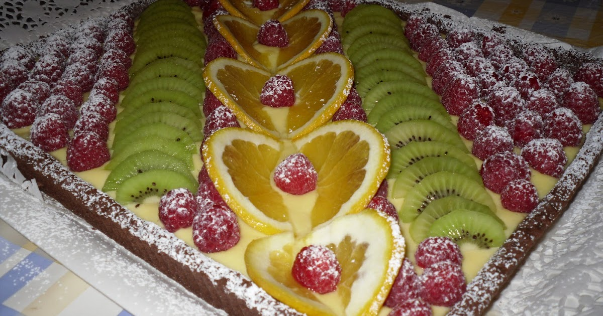 L 39 Arte In Cucina Crostata Con Frolla Al Cacao E Frutta