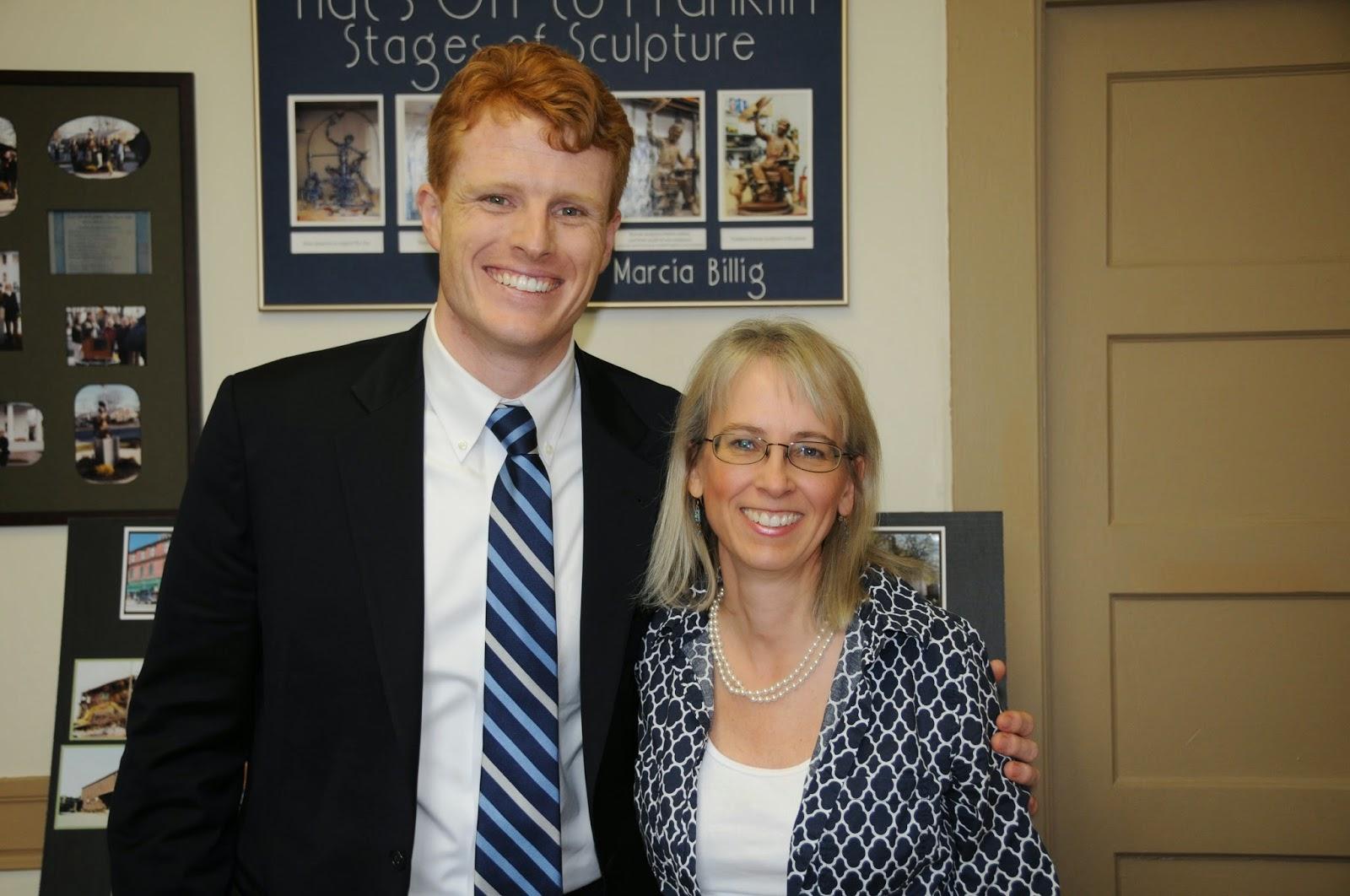 US Representative Joesph Kennedy III and FDP Executive Director Lisa Piana