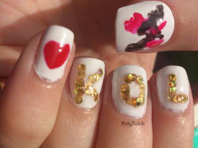 Kings of Leon nail art easy