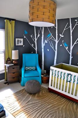 dormitorio de bebé en gris
