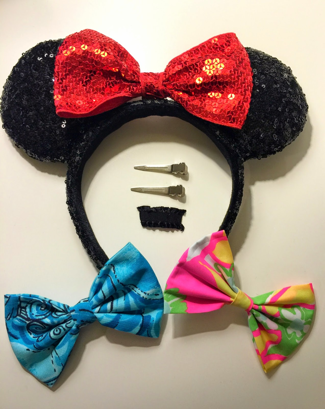 how to make a minnie mouse bow out of fabric