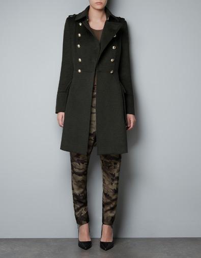 Military Coat Zara