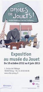 flyer exposition musée jouet poissy andré hellé