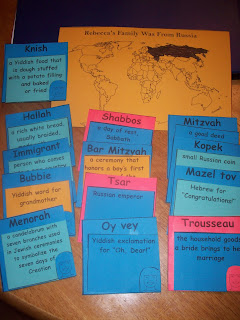 vocabulary and geography sections of her American Girl lapbook....
