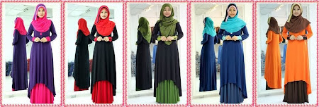 Mark Down Price. Exclusive Long Dress Fishtail. Harga Murah Termasuk Dress + Skirt + Shawl