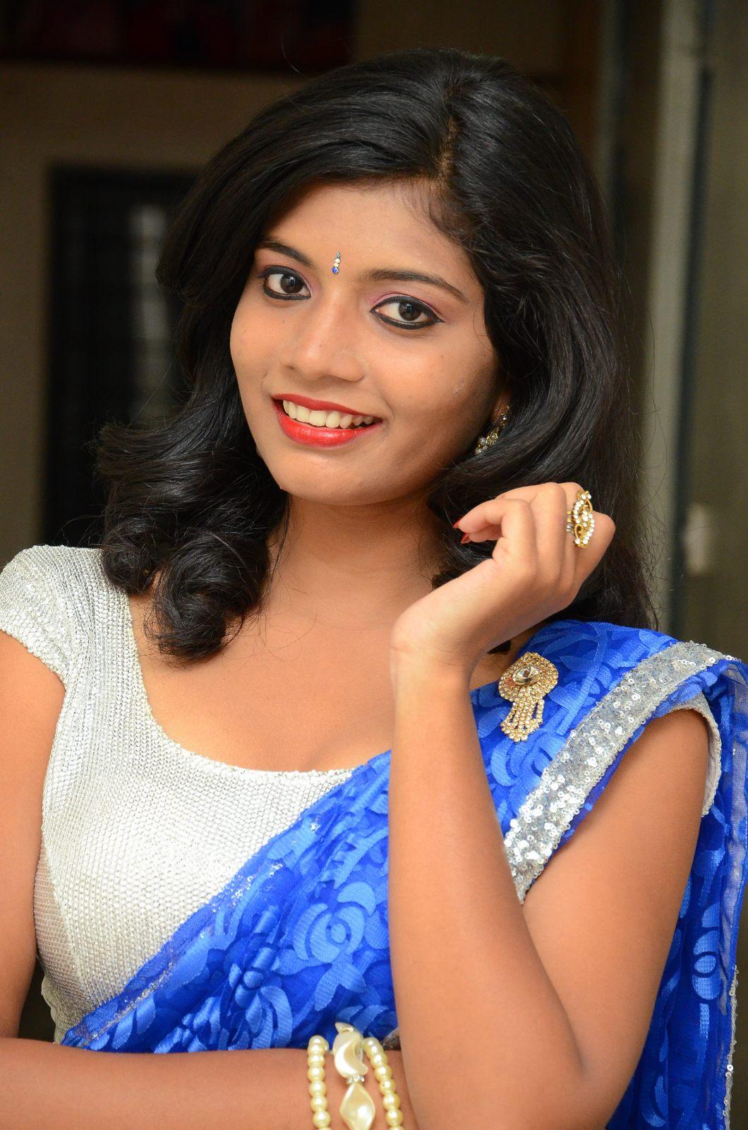 Bindhu latest sizzling saree pics-HQ-Photo-13