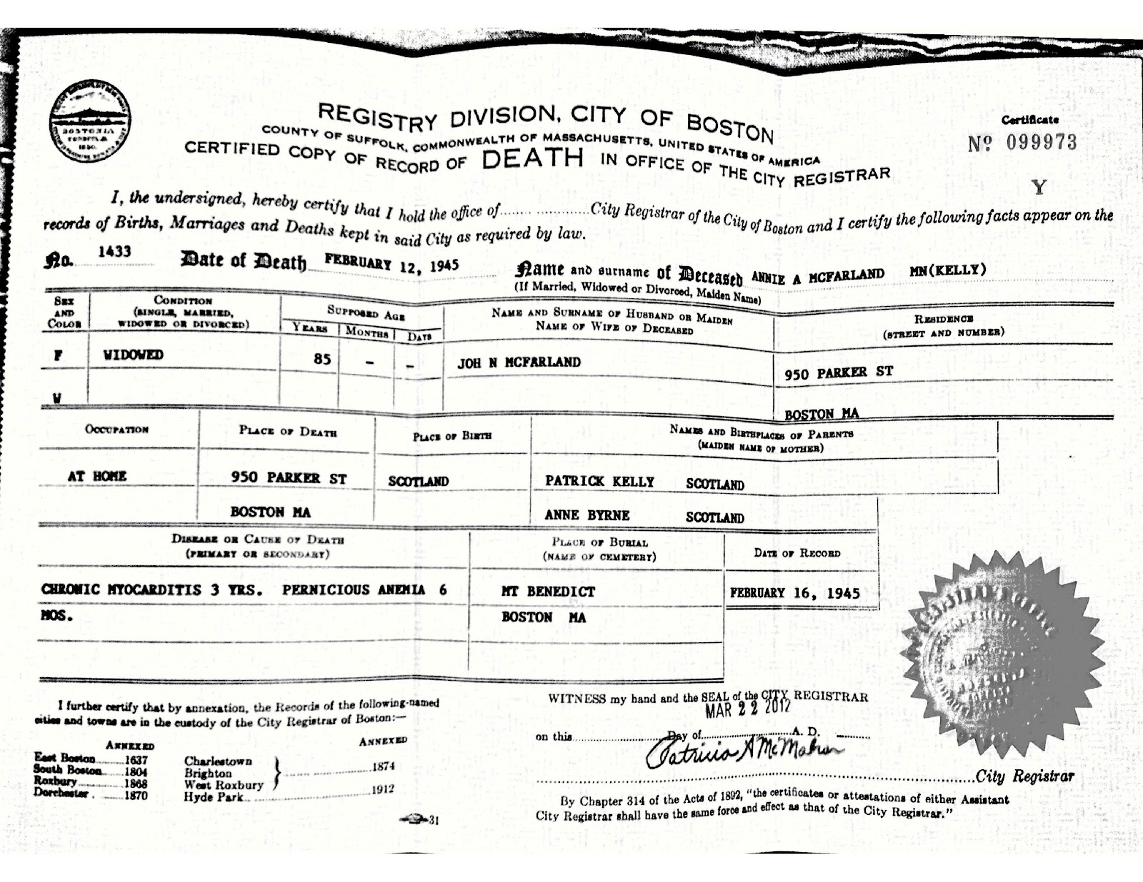 """More Birth Certificate Questions Raised >> West in New England: """"IN SUNSHINE OR IN SHADOW"""" 3"""