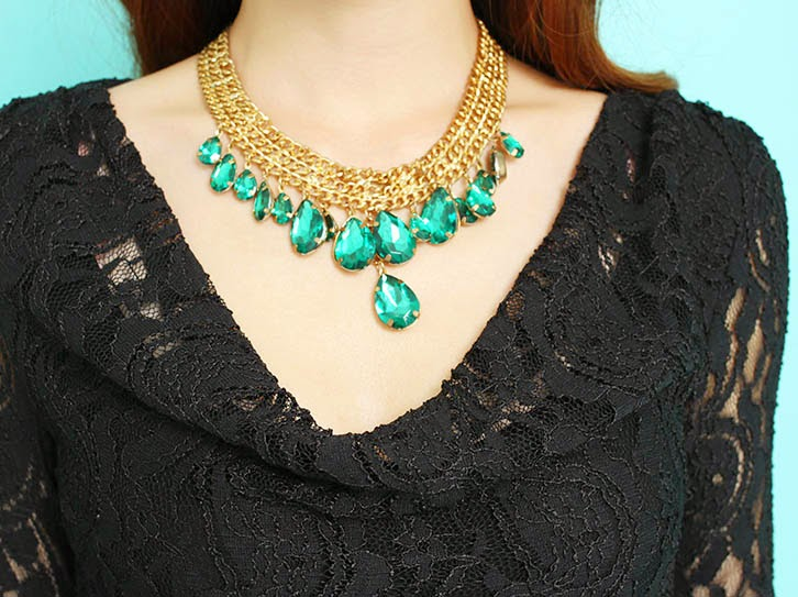Acrylic Gold Necklace