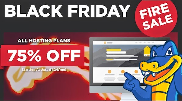 HostGator discount up to 75% of the hosting package - Black Friday 2014